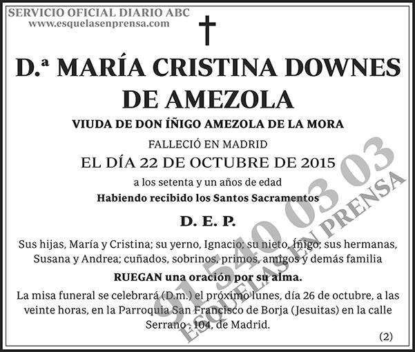 María Cristina Downes de Amezola